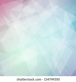 Pastel rainbow geometric vector background