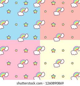 pastel rainbow pattern