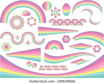 Pastel Rainbow Shapes and Patterns