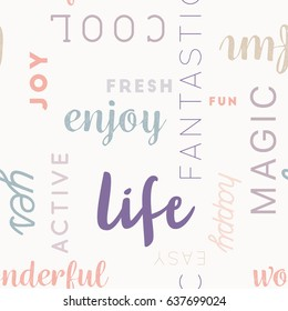 Pastel seamless Type Pattern Life for Background