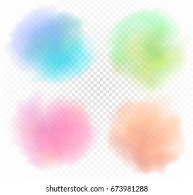 Pastel stain, Watercolor background, water color splash imitation, watercolour texture, isolated on white. Hand drawn Vector illustration.