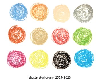 pastel vector circles set design elements