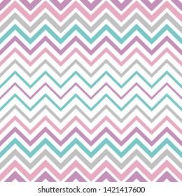Pastel vintage vector seamless gradient zigzag line pattern