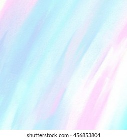 Pastel watercolor hand drawn paper texture vector stylized line card for greeting, design. Abstract water color blue pink white wet brush paint stroke vivid background