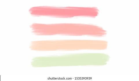 Pastel watercolor splash set for your design, vector.
