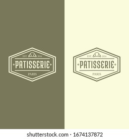 Pastry bakery vector logo design template