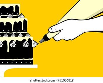 Pastry cake decoration