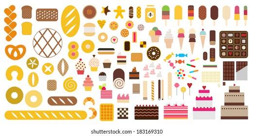 Pastry & Sweet icon set