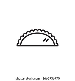 Pasty icon design isolated on white background. Vector illustration