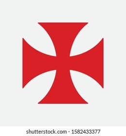 Patea cross red symbol of the Order of the Templar
