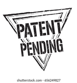 patent pending sign stamp on white stock vector royalty free