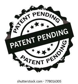 Patent pending stamp.Sign.Seal