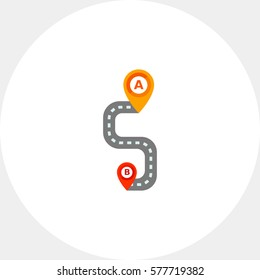 Path on Road Vector Icon