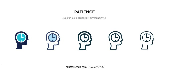 patience icon in different style vector illustration. two colored and black patience vector icons designed in filled, outline, line and stroke style can be used for web, mobile, ui