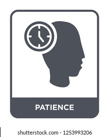 patience icon vector on white background, patience trendy filled icons from General collection, patience simple element illustration