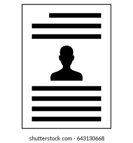 Patient card vector icon
