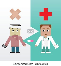 Patient and his Doctor