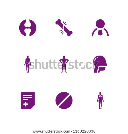 Patient Icon 9 Patient Set Joint Stock Vector (Royalty Free