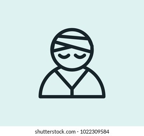 Patient icon line isolated on clean background. Patient icon concept drawing icon line in modern style. Vector illustration for your web site mobile logo app UI design.