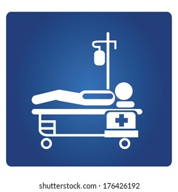 patient lying on bed, medical bed, patient bed