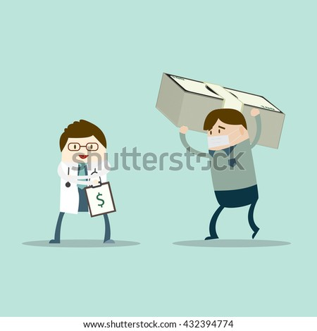 patient who no money problem collecting stock vector royalty free