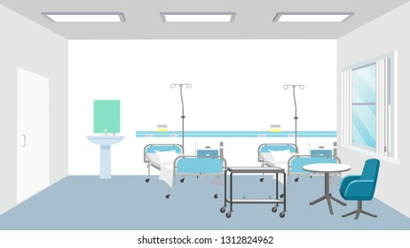 Patient's room scenery interior
