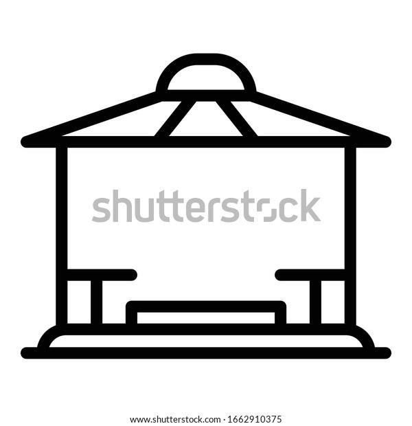 Patio gazebo icon. Outline patio gazebo vector icon for web design isolated on white background