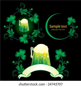 Patrick set with green beer