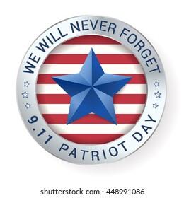 Patriot Day 9.11  digital sign with star. vector illustration