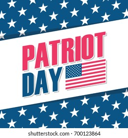 Patriot Day background with United States national flag. Vector illustration.