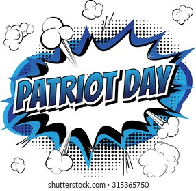 Patriot day - Comic book style greeting card on white background.