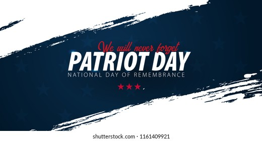 Patriot day promotion, advertising, poster, banner, template with American flag. American patriot day wallpaper