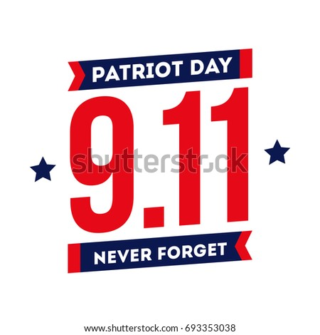 patriot day remembering 911 tragedy world stock vector royalty free