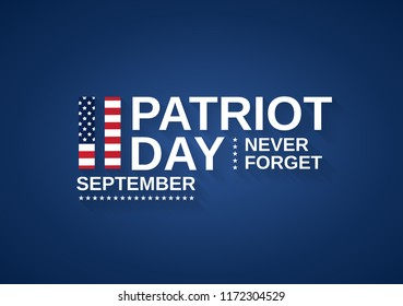 Patriot Day USA banner, 9/11. Never forget. Vector illustration.