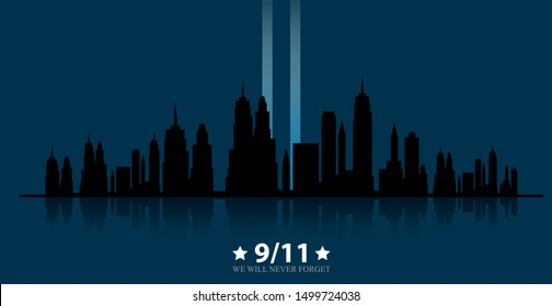 Patriot day USA.We will never forget.September 11