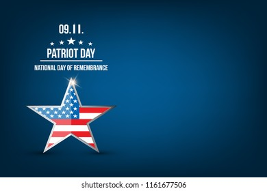 Patriot Day vintage design.Patriotic banner or poster. Vector illustration for Patriot Day.