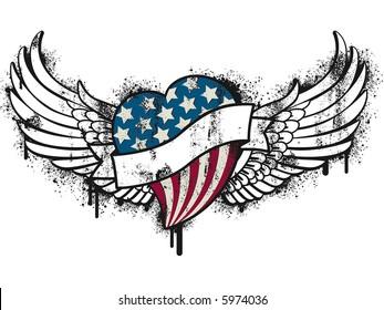 patriot grunge heart