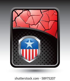patriot shield red cracked backdrop