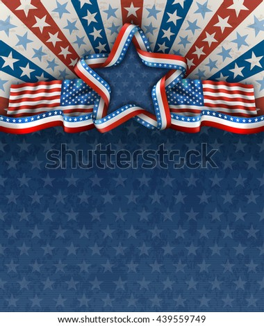 patriotic american background fourth july american stock vector