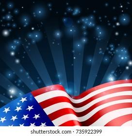 Patriotic American flag background design