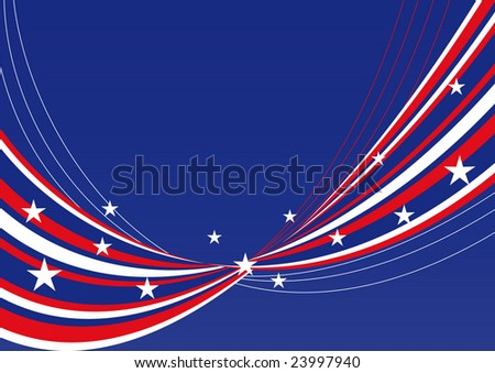 patriotic background waves lines stars stripes stock vector royalty