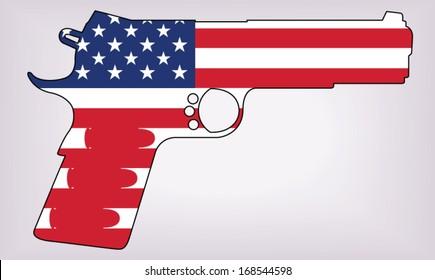 patriotic gun