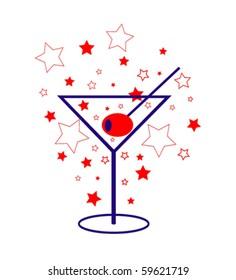 Patriotic Martini