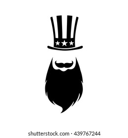 Patriotic symbol of Independence day USA. Uncle Sam on hipster style