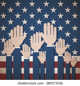 Patriotic Us Voting Background