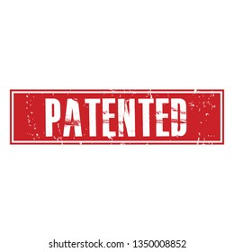 Pattented Grunge Rubber Stamp on White Background