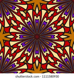 Pattern of abstract geometric flowers. Seamless vector illustration. for design greeting cards, backgrounds, wallpaper, interior design