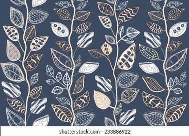 Pattern Abstract seamless texture with the original leaves.