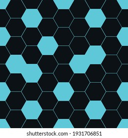 pattern abstraction honeycomb scheme blue black vector