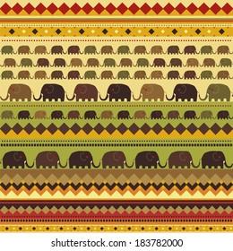 pattern of African elephants
